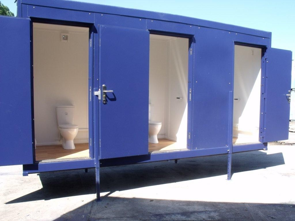 Toilet containers welcome to barship - Shipping container public bathroom ...