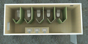 Fabricated Toilet Container 9